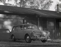 VW on 4x5 film (Garrett Meyers) Tags: garrettmeyers garrett meyers vintage car vintagevw graflex largeformat 4x5 4x5film autograflex4x5 vw blackandwhite monochrome handheld homedeveloped film filmphotographer reddingphotographer oldcars