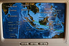 Flying past eastern Indonesia (A. Wee) Tags: fijiairways 斐济航空 economyclass 经济舱 inflight navigation map indonesia 印尼
