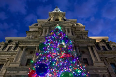 All Decked Out (joscelyn_p) Tags: philadelphia philly visitphilly canon lightroom philadelphiacityhall cityhall christmas christmaslights christmastree lights tree decorations decoration
