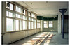 HAL Building, Rotterdam 1991 (jmvanelk) Tags: rotterdam hal kopvanzuid abandoned hotelnewyork urbex nikonfe nikkor24mm sunlight hollandamerikalijn