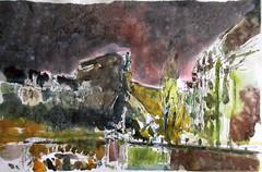 Quai Charles Altorffer Strasbourg 27-11-2017 (messerchristophe) Tags: aquarelle strasbourg plein air croquis urbain quai altorffer urban sketching pluie nuit pont