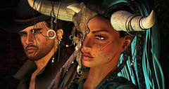 Always together (Laura Blues) Tags: secondlife roleplay rp postapoc apocalypse warriors fantasy fantasygachacarnival emotions 7deadlys{k}ins