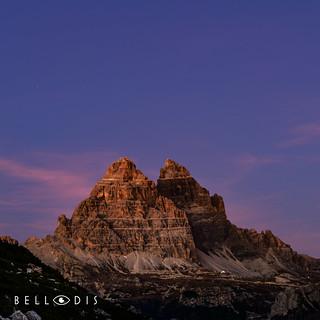 170914  Twilight on the Tre Cime di Lavaredo