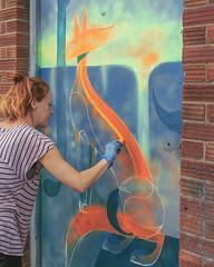Bex Glover 1 (Rockman of Zymurgy) Tags: upfest 2017 street art bedminster bristol graffiti illustration artist stencil spray paint sticker paste