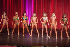 Hot Female Fitness Contestant (Rick Drew - 19 million views!) Tags: fitness workout model heels bikini red drapes curtain stage blonde brunette pose posing posed rip ripped healthy fit