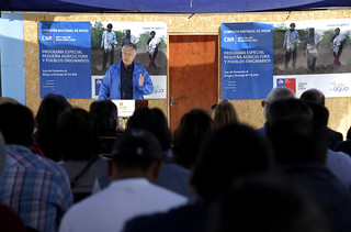 Entrega de bonos de riego del Programa Especial Pequeña Agricultura y Pueblos Originarios