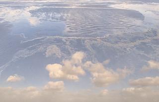 Clouds on beach