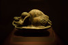 neolithic statue of a sleeping lady (jaypchances) Tags: sculpture statuette sleeping opening stoneage art travel fat malta island mediterranean doorway lady culture neolithic sea