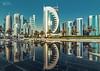 Doha City (V I J U) Tags: 2017 canon5d city cityscape doha photowalk qatar vijujose tokinaatx1628f28profx tokina morning sheraton park reflection amazingqatar