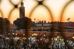 Evening at Jemaa El-Fnaa (jennifer.stahn) Tags: travel travelphotography marocco marokko morocco marrakech marrakesch marrakesh jemaa jemaaelfnaa evening sunrise sonnenuntergang square markt nightmarket nikon cafe france jennifer stahn