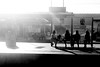 Ray of light (A. Yousuf Kurniawan) Tags: light dark shadow trainstation silhoutte people waiting streetphotography phonestreet cameraphone blackandwhite giessen monochrome composition decisivemoment contrast underexposure overexposure