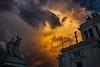 November sky in Rome (Marco Damilano) Tags: roma monumenti statue
