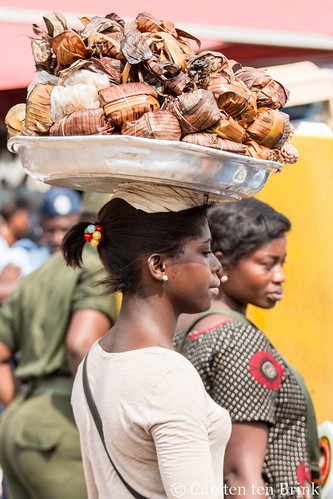 At the Queen Mother's funeral - snack vendor