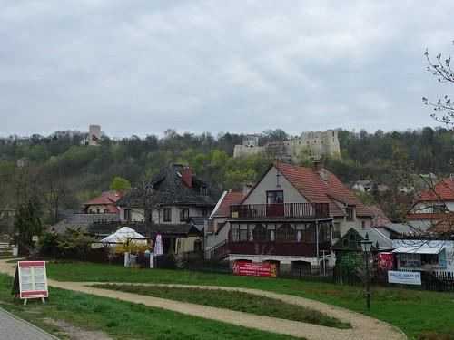 Widok Kazimierza z promenady nad Wisłą