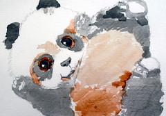 Panda, by Amanda - DSC02186 (Dona Minúcia) Tags: art painting watercolor anumal pandabear cute friend child arte pintura aquarela urso fofo gracinha amigo criança infância filhote