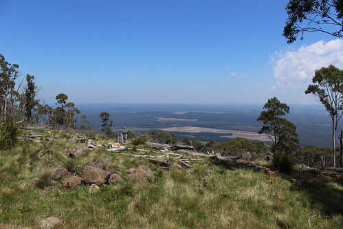 View looking south from Mount Macedon