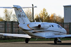 OE-FWD CESSNA CITATION 510 MUSTANG NEWCASTLE (toowoomba surfer) Tags: bizjet businessjet executiveaviation jet aeroplane ncl egnt