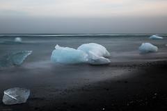 Diamond Beach / Long Exposure - Iceland (Toine B.) Tags: diamond beach long exposure iceland jokulsarlon black sand longexposure landscape paysage nikon d750 tamronsp2470mmf28divcusd tamron2470 nd1000 hoya