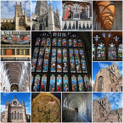 The Glory of Gloucester and Hereford Cathedrals (antonychammond) Tags: fdsflickrtoys gloucestercathedral herefordcathedral mappamundi anglicanchurch christianity worship religion herefordshire gloucestershire thegalaxy anticando hccity simplysuperb contactgroups