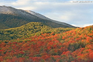 Heart Lake Snow And Fall Foliage