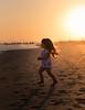On fire (Bai R.) Tags: girl running dreams onfire sunset sun sand ocean sea summer