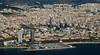 Torre Agbar & Torres Mapfre (vic_206) Tags: fromtheair windowplane aerial barcelona torresmapfre torreagbar