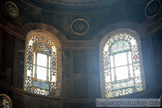 Stained Colorful glass -Hagia Sophia