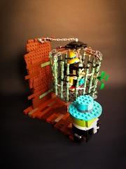 Help!! Pinocchio trapped in hanging bird cage!!  #legomoc #brickheadz #レゴ #pinocchio  #jiminycricket #disney #lego #moc (Rokan Cheung) Tags: レゴ legomoc brickheadz moc lego disney jiminycricket pinocchio