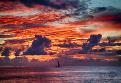 Sunset sailboat (wileyimages.com) Tags: sunset alamoana clouds pacific ocean hawaii oahu