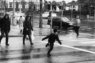 pedestrian crossing race