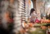 Fall (michaelinvan) Tags: autumn canon inexplore girl child fence doll leaves bokeh dof 135mm f2 5d2 primelense