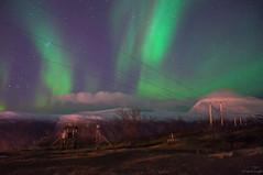 The Lights of Tromsö (Mikesch.75) Tags: night nacht norway norwegen nikon nordlichter natur tromsö troms aurora auroraborealis art fjellheisen