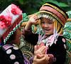 Children's smile (Robyn Hooz) Tags: children bambini tempio scala steps mountain montagna chiangrai sacred sacroi smile asia love
