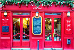 Christmas in Paris-1 (albyn.davis) Tags: colorful color red bright vibrant vivid storefront holidays christmas decorations paris france europe travel
