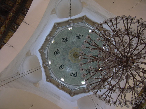 Damaskus, Omayadenmoschee, Luster im Innenraum