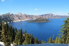 Crater Lake (Jane Inman Stormer) Tags: lake volcano park nationalpark craterlakenationalpark snow pine trees blue sky water island wizardisland oregon