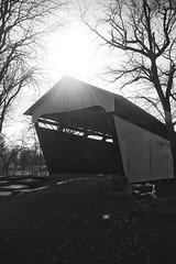 B&W series (Howard TJ) Tags: blackandwhite bw ohio pickerington bridge coveredbridge