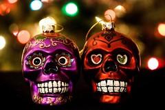 Week 47: Technical: Bokeh (amajeska) Tags: bokeh sugarskulls skulls ornaments dayofthedead 52dogwood2017