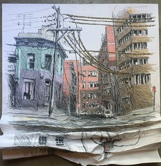 Uther St, Surry Hills, Sydney (Peter Rush - drawings) Tags: drawing peterrush urbansketches surryhills australia nsw sydney
