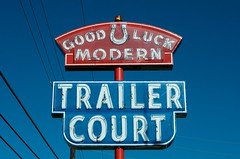 Best of luck to you (dangr.dave) Tags: architecture dallas dallascounty downtown historic texas tx neon neonsign goodluck modern trailercourt horseshoe lucky