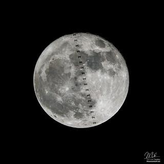 ISS / Supermoon Lunar Transit - December 4, 2017