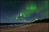 Norrsken (Jonas Thomén) Tags: norrsken northernlights aurora auroraborealis revontulet foxfire beach strand sand night natt sea havet hav vågor waves