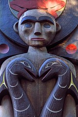 Snake Heads (Bad Kicker) Tags: totem sculpture art wooden snakes aboriginal carving wood vancouver