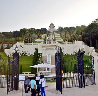 The Terraces of the Bahá'í Faith, also known as the Hanging Gardens of Haifa, Haifa, Israel