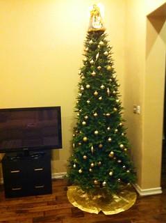 Lit up like a christmas tree
