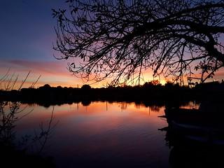 Couchant sunset