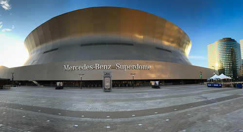 Panoramic view of Mercedes-Benz Superdome New Orleans LA