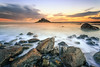 St-michael's Mont (Ludovic Lagadec) Tags: cornouailles stmichaelsmont angleterre landscape seascape sea sky sunset travel longexposure rocks clouds montsaintmichel