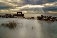 Seascape (TOYTOMORN) Tags: seascape sea scape la landscape l lights sunray sun sunrise scene sunset skies selp18105g sky sony sony18105 amateur angle asia asian a6500 alpha apsc apcs colour color cloud clouds colorful outdoor ilce6500 image emount photo photography photographer pics light landscapes longexposure thailand thai samutsakorn ประเทศไทย ไทย สมุทรสาคร