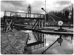 Black & White Canal Reflections (hussey411) Tags: iphone7plus photographer photography blackandwhite reflections midlands canal britain uk